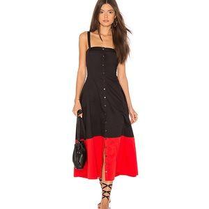 Mara Hoffman marina midi dress new sz 0 black red